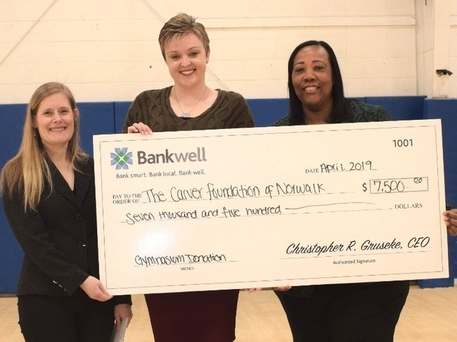 L-R: Nikki LaFaye, Director of Philanthropy at The Carver Foundation of Norwalk, Lucy French, AVP & Marketing Manager at Bankwell and Novelette Peterkin, CEO of the Carver Foundation of Norwalk.
