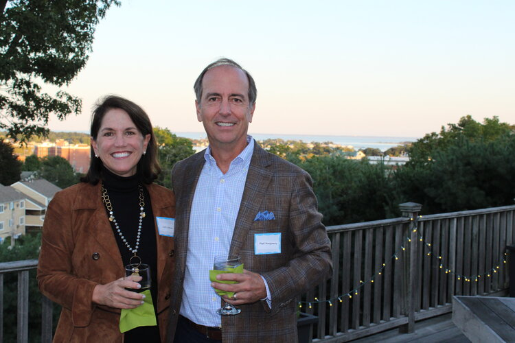 Callie Sullivan and Hugh Montgomery attending our Norwalk Connections party ( read about it here ) on September 19th.