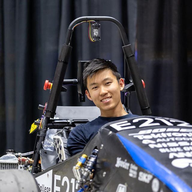 We'd like to shoutout two very special graduating seniors, Kevin Guo and Alex Hoppe.  They are the last team members to have been involved with all four of our FSAE cars to date and have each played a huge role in the growth of our team.  Kevin has been involved in mechanical projects all over the car, and was mechanical lead his sophomore year. In his senior year Kevin led the composites subteam, and made sure Mk.4 was our best looking car to date! In the not-too-distant future Kevin will be begin working at Auris health as a mechanical engineer.  Alex has contributed to the establishment and growth of our electrical team. He served as electrical lead his sophomore year, the first year that our team passed tech inspection and raced at competition. Alex has accepted a job and will start his full time career at Mindtribe product engineering.  We are deeply thankful for and will sincerely miss the leadership, mentorship, and friendship these two have contributed the team and wish them the best of luck in their futures away from Olin.