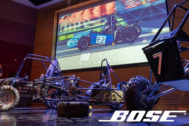 We are very proud to announce that Bose will be continuing their support of our organization as our title sponsor for the 19-20 season!  It was awesome to present at their headquarters with @olinbaja and @neufsae and we are excited to return this fall to show off our finished vehicle.