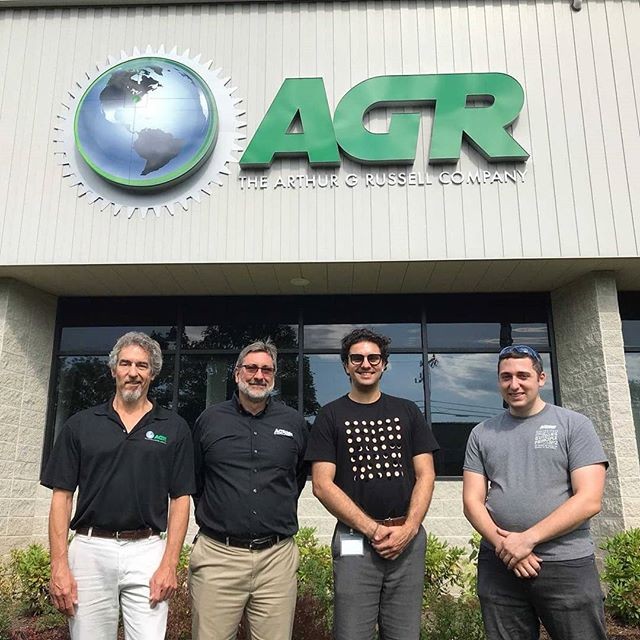 We are excited to announce that the Arthur G Russell Company is joining our team as our newest sponsor!  Thank you AGR for your support of our team and congrats to one of our senior engineers, Kian Raissian, who just finished his summer there as a mechanical engineering intern.