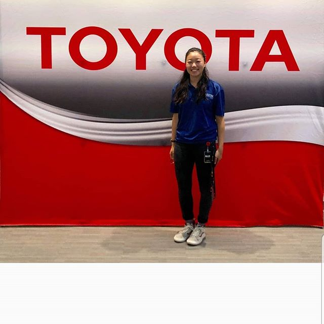 Toyota is joining our team as our newest sponsor and the summer home for our 2019-2020 project manager, Rachel Won! . . .  Rachel spent the summer with Toyota's Body Design Functional team as an R&D co-op. Thank you Toyota!