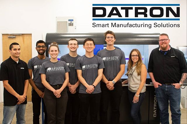 Just as school is starting up, our engineers took a trip up to New Hampshire to meet our newest sponsor, @datroncnc! They will be supporting our team with advanced manufacturing of our most complex components. . . . Datron makes some of the best high speed milling machines in the business, and we are so excited for them to use their technology to bring our designs to life.