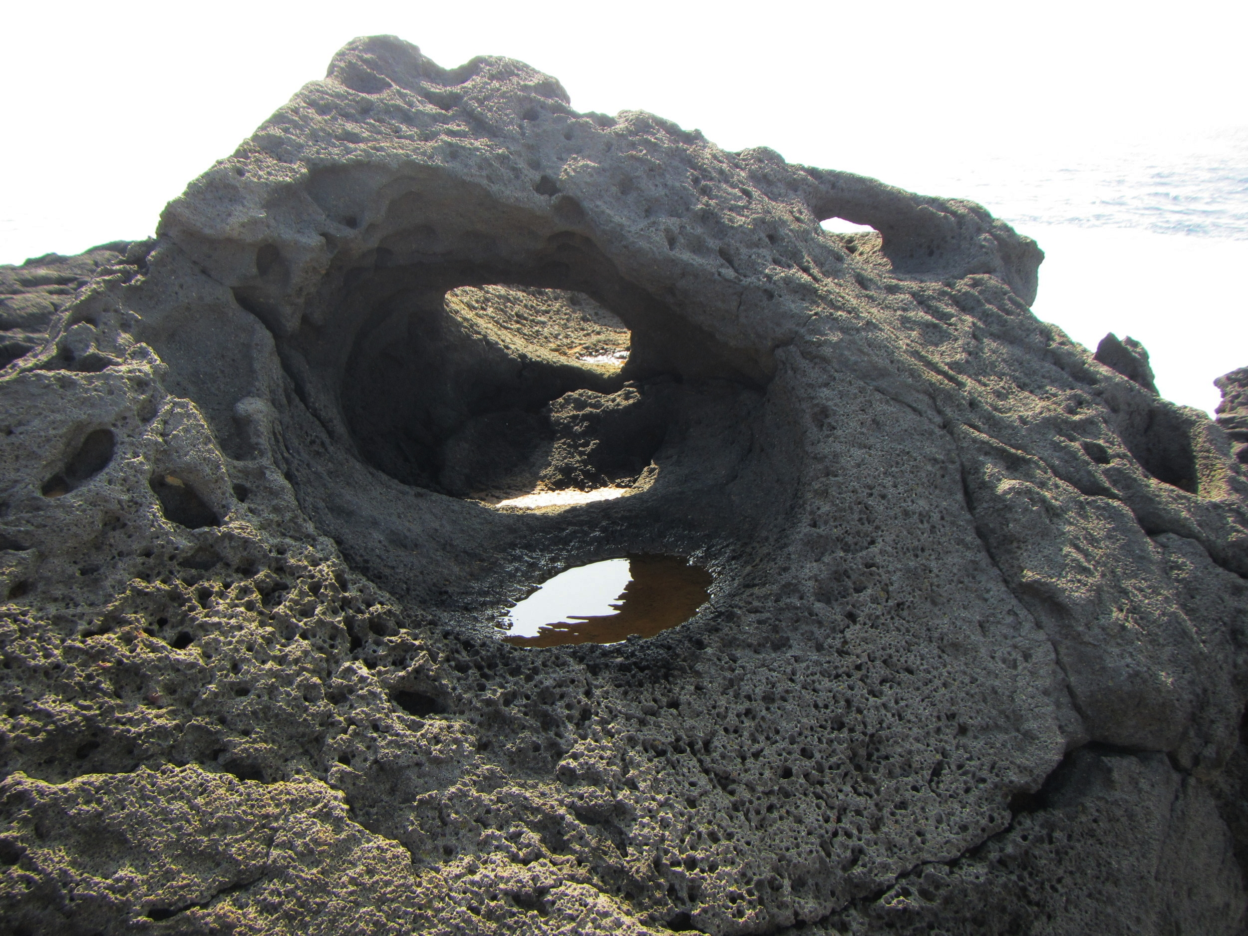 Stone anchor handles carved by ancient Hawaiians