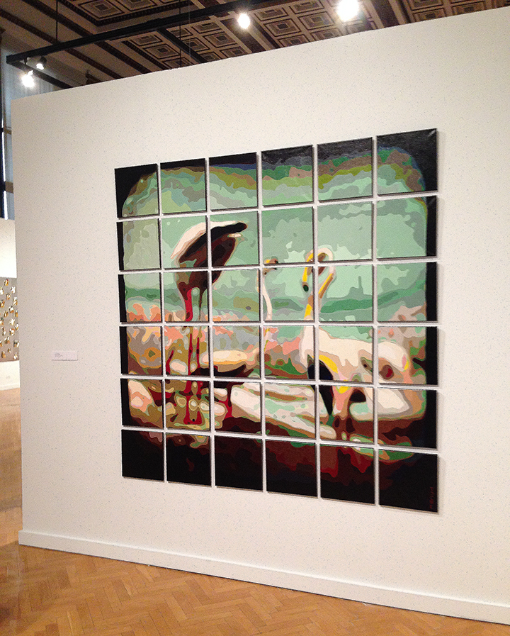 Flamingo Diorama - in gallery