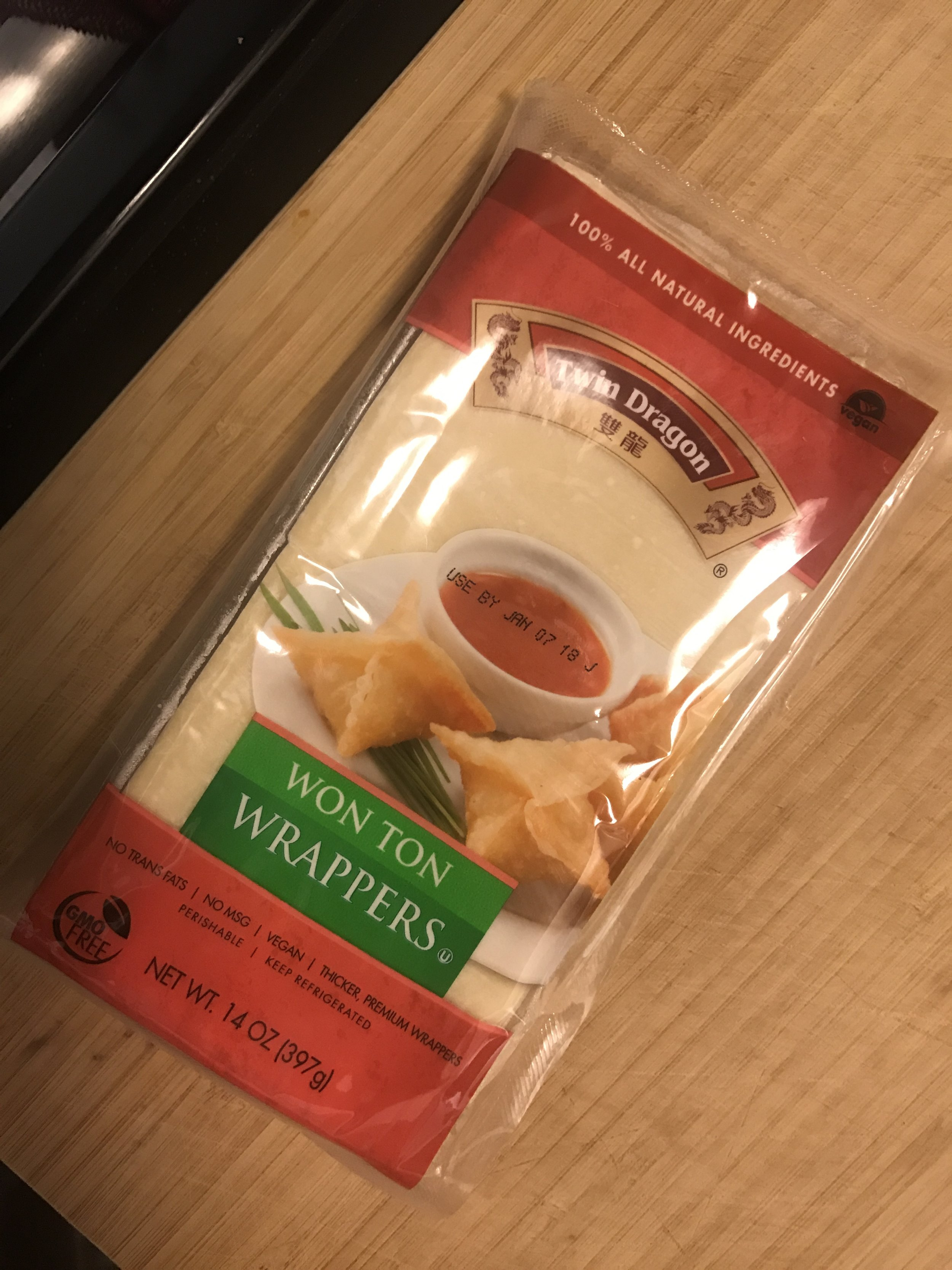 This is the Vegan Wonton Brand that I used.