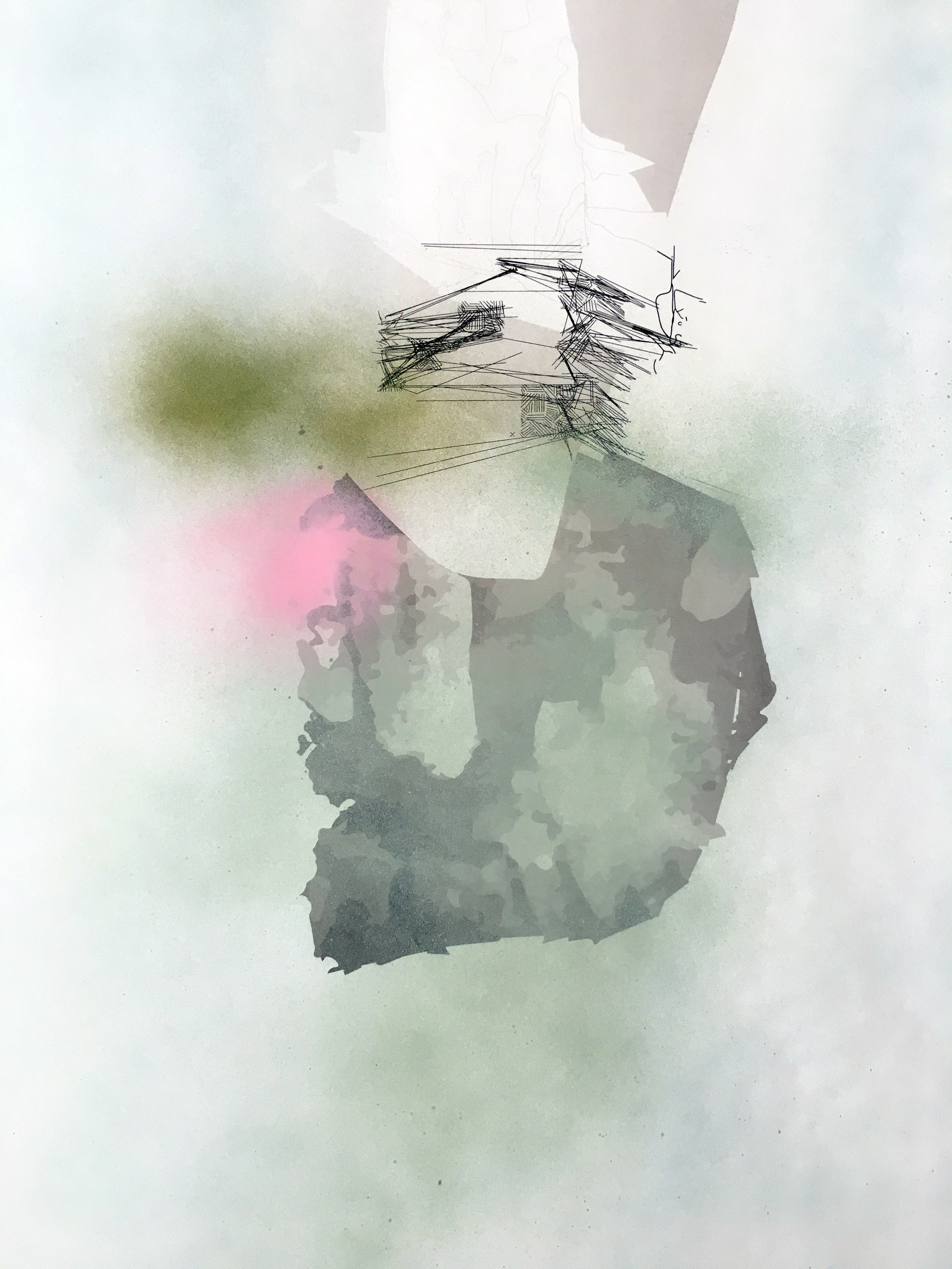 The Philosopher Walks (detail, refuge)