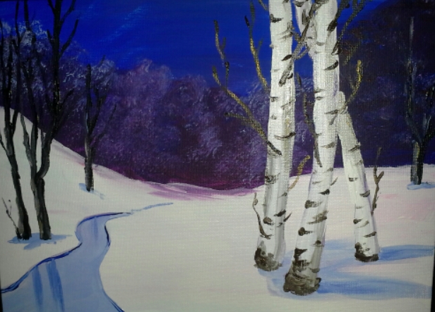 Birch and Snow