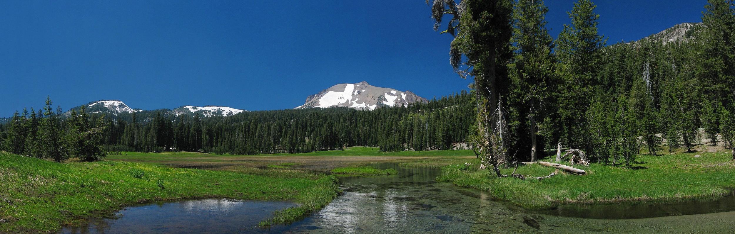 Kings Creek with Lassen Peak on the horizon