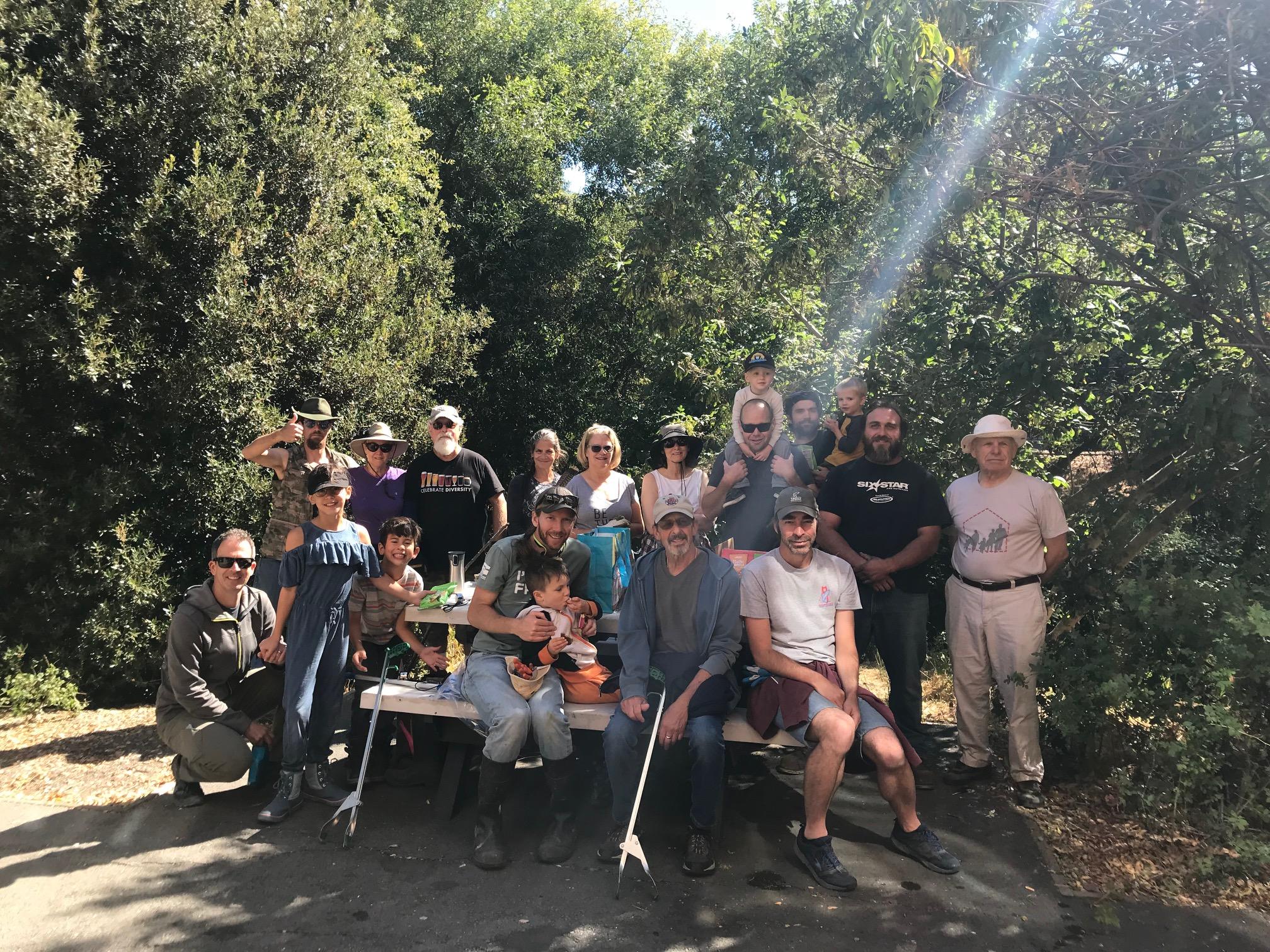RETU led a volunteer cleanup team on Adobe Creek. Together we hauled out several large bags of trash.