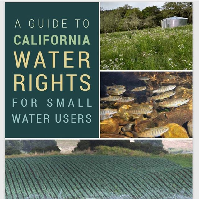 A you a small-scale water user? Do you know someone that uses water directly from a stream? If so, check out TU's new Guide to CA Water Rights for Small Water Users that was created by TU staff with assistance from the State Water Board and The Nature Conservancy. Lack of flow in late summer and fall greatly impacts the salmon and steelhead populations in California's Mediterranean climate. Water rights are a complex subject, this guide does a great job of demystifying the process for land owners. Link in bio . . . #conservation #CAwater #drought #coho #steelhead #wildsalmon #coastalculture #conserve #protect #restore #troutunlimited