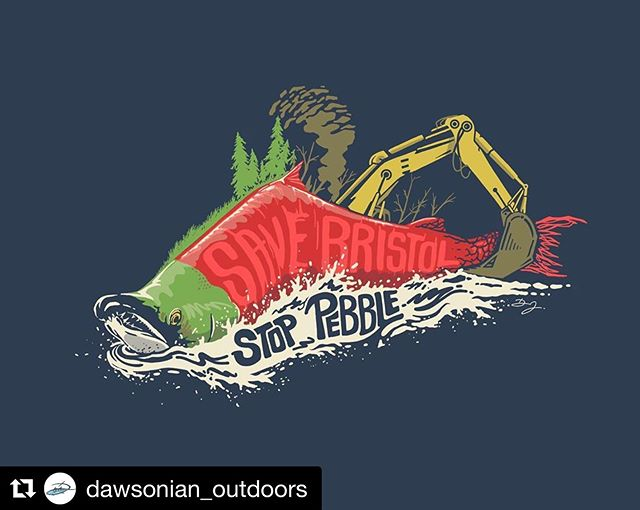 @dawsonian_outdoors with the best #nopebblemine graphics to date! Standup.tu.org to tell the EPA wrong mine wrong place  #Repost @dawsonian_outdoors ・・・ The plans for #pebblemine are back in discussion yet again. The plans for Pebble are set for Alaska's pristine #bristolbay where the worlds largest population of sockeye salmon return to spawn. Their presence provides food for wildlife and people of the region and drives the economy in #fishing #hunting and #tourism . If the mine were to be approved it would bring irreversible deviation to the environment by stoping rivers and releasing large amounts of acid into the rivers and bay. Minerals are temporary but the life that thrives in the final frontier would be hurt permanently. :: #savebristolbay #stoppebblemine #alaska #wildlife #alaskafishing #alaskahunting #nature #nopebblemine #wildalaska #troutunlimited #hunting #flyfishing #pacificnorthwest #wildlife #conservation #flyfishing #salmon #salmonfishing #orvis #repyourwater #simms #fishinglodge #sockeyesalmon #saveouroceans