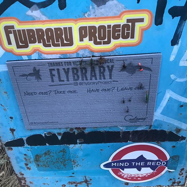 Made some donations to the @flybraryproject at Putah Creek this evening. I expect to find all sorts of weird stuff here in the future . . . #putahcreek #flytying #flyfishing #wildtrout #rainbowtrout #troutnymphs #dryflies #troutunlimited