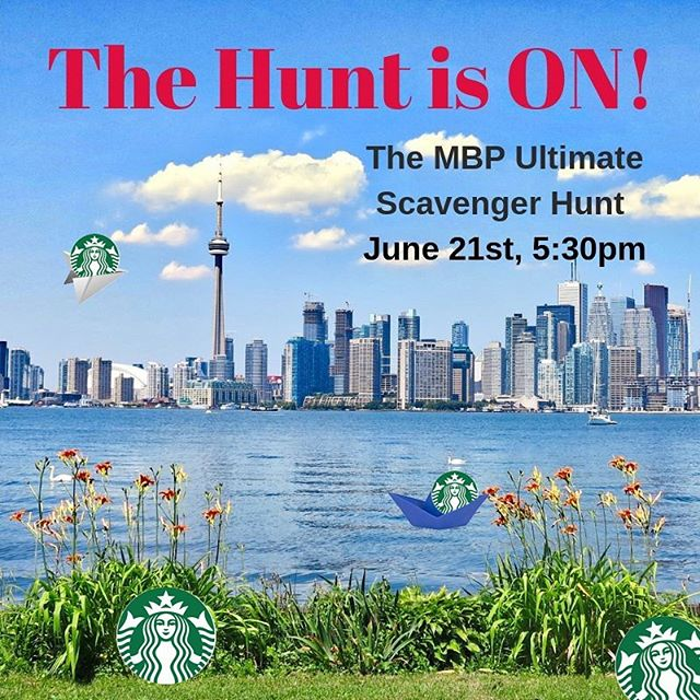 The MBP Ultimate Scavenger Hunt is on! Join us June 21 at 5:30pm for your chance to run around Toronto, look for clues, and win Starbucks gift cards! . Exercise, fun, prizes, what more could you ask for? . For rules and registration, go here: https://forms.gle/e94wwbpgkMtgP3Mu6  #scavengerhunt #funinthesun #starbucks #prizes #explore #toronto #uoft #mbp #mbpgsa