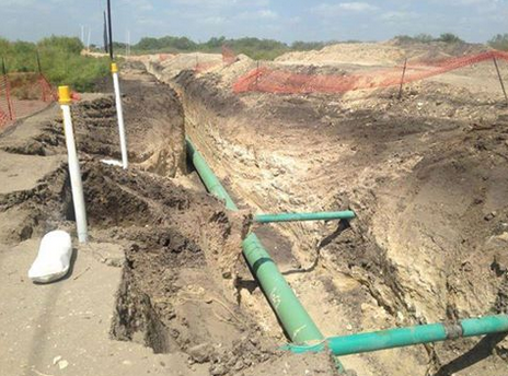 cathodic protection and test station installation