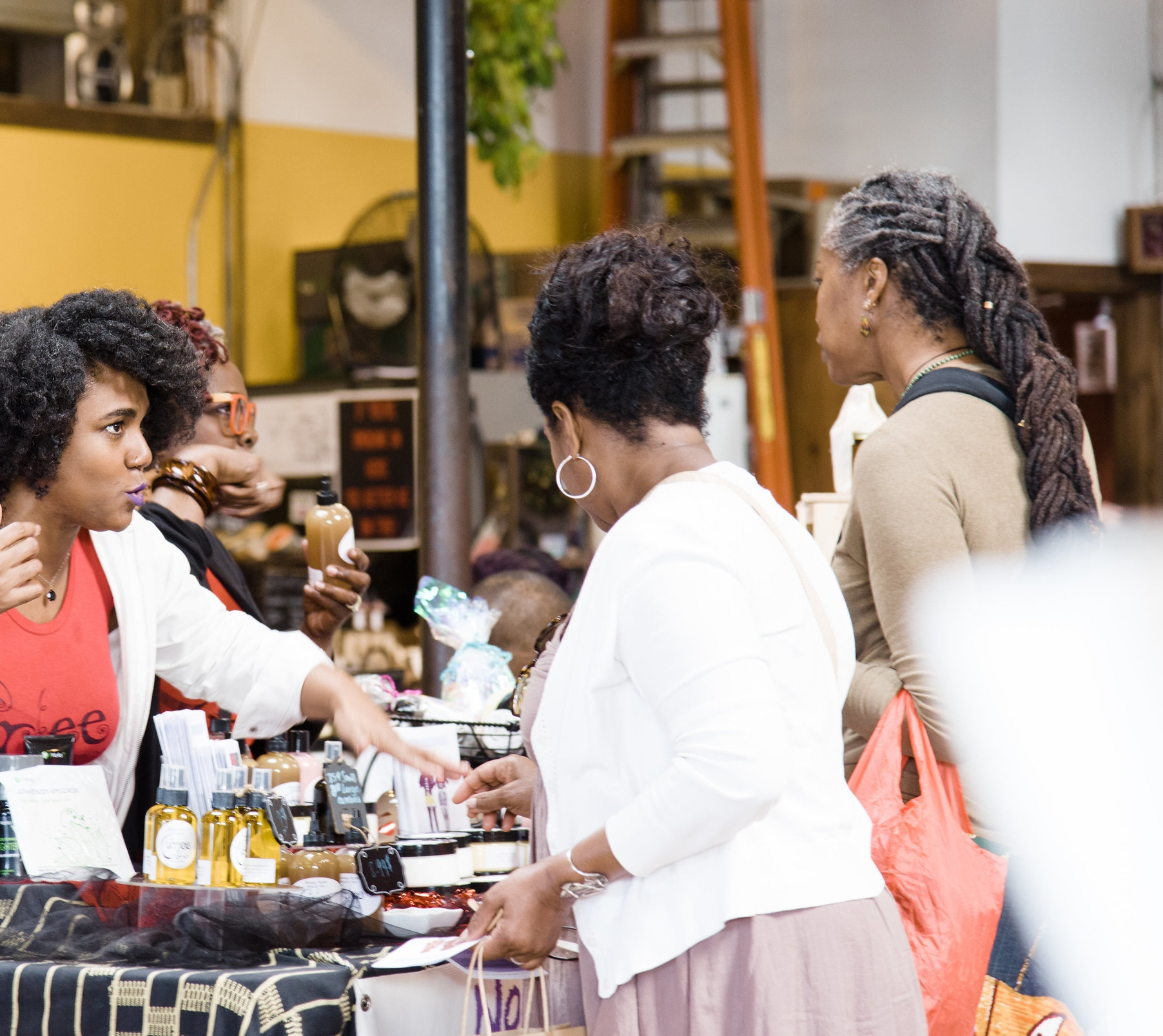 Bay Area Black women entrepreneurs showcase their products and services at The Black Women's Bazaar in Berkeley.