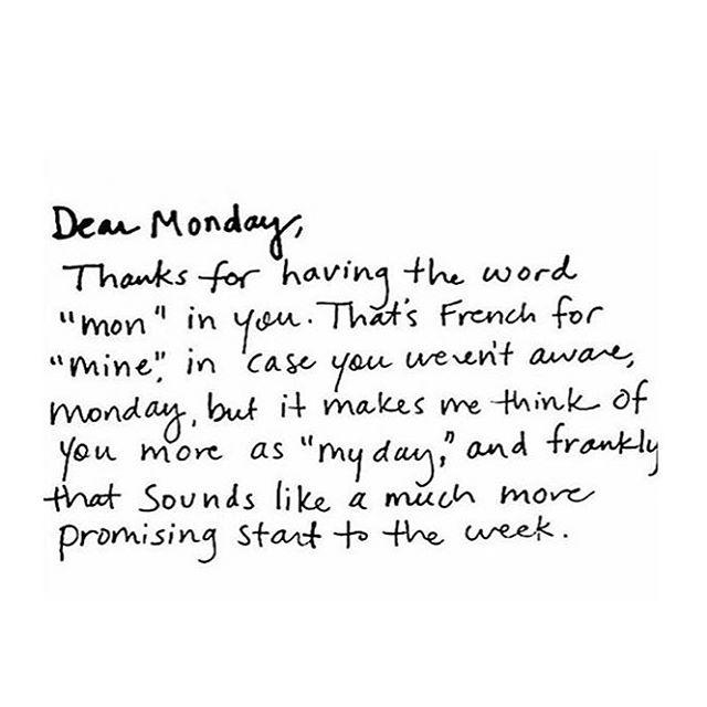 Happy Monday. Make it yours 🖤 @thefeistyyogi
