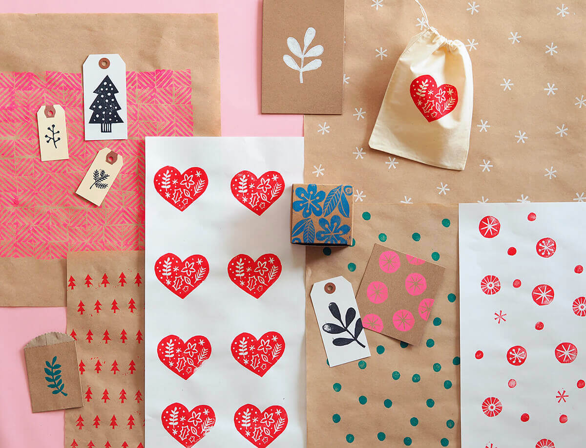 Christmas wrapping, stationery and packaging you can make on the Christmas in July Craft Retreat