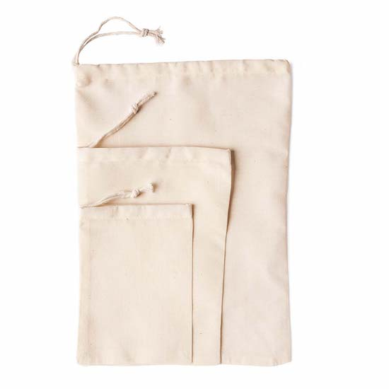 Drawstring Cotton Bags  (the closest we have found to the original Blank Goods cotton bags)  woodruffandco.com.au