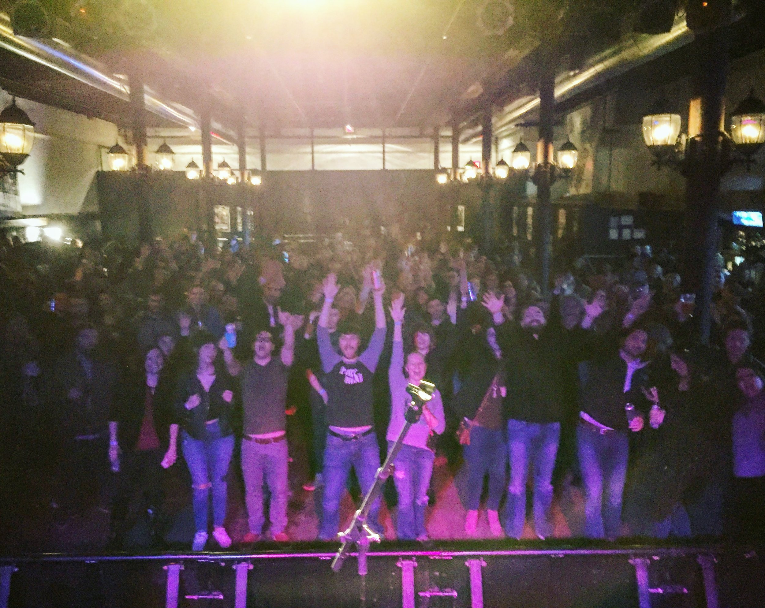 End of our set at Wooly's in Des Moines, IA on the #BasselResistTour - what a night!