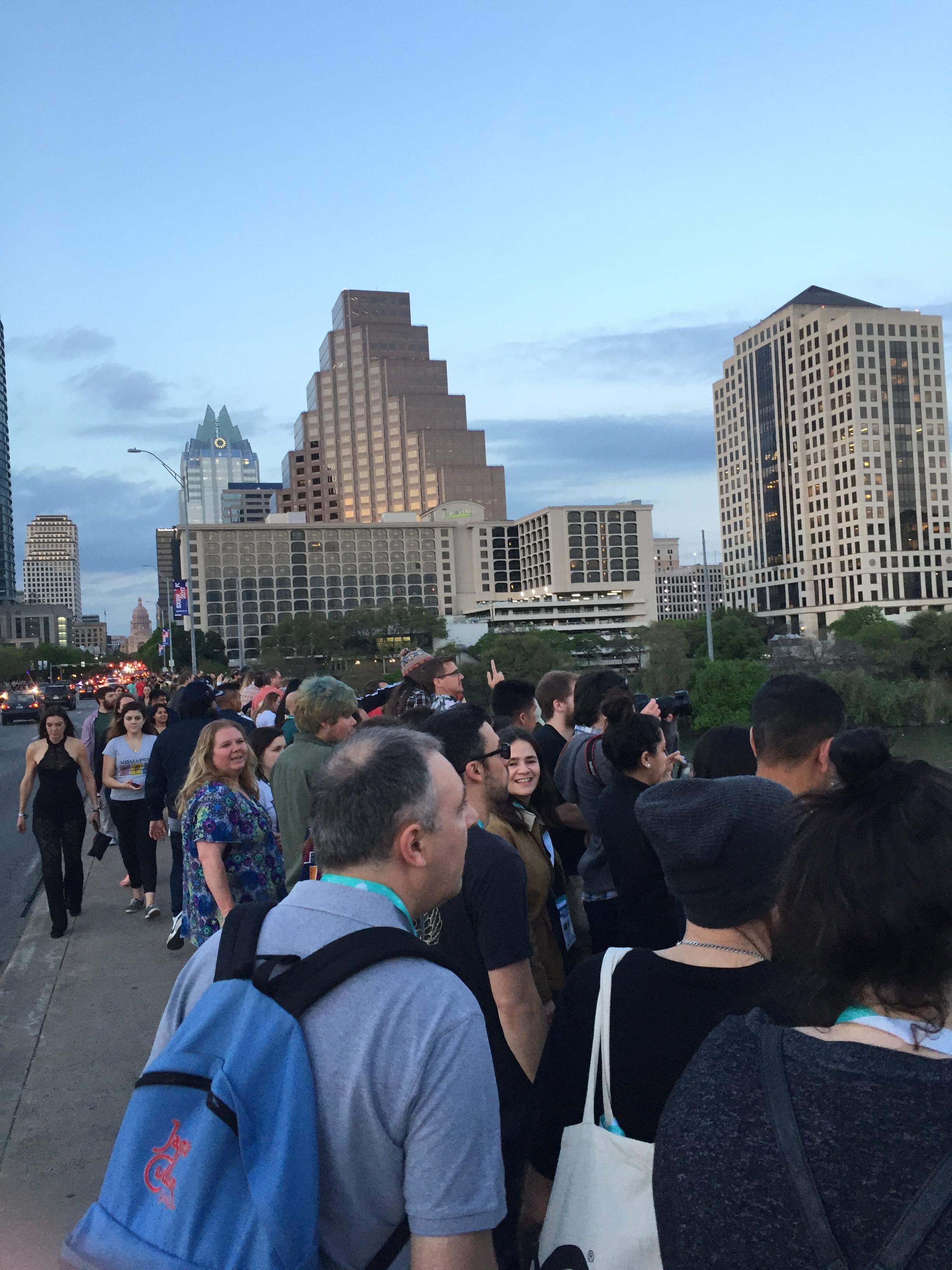 Exploring Austin during SXSW.
