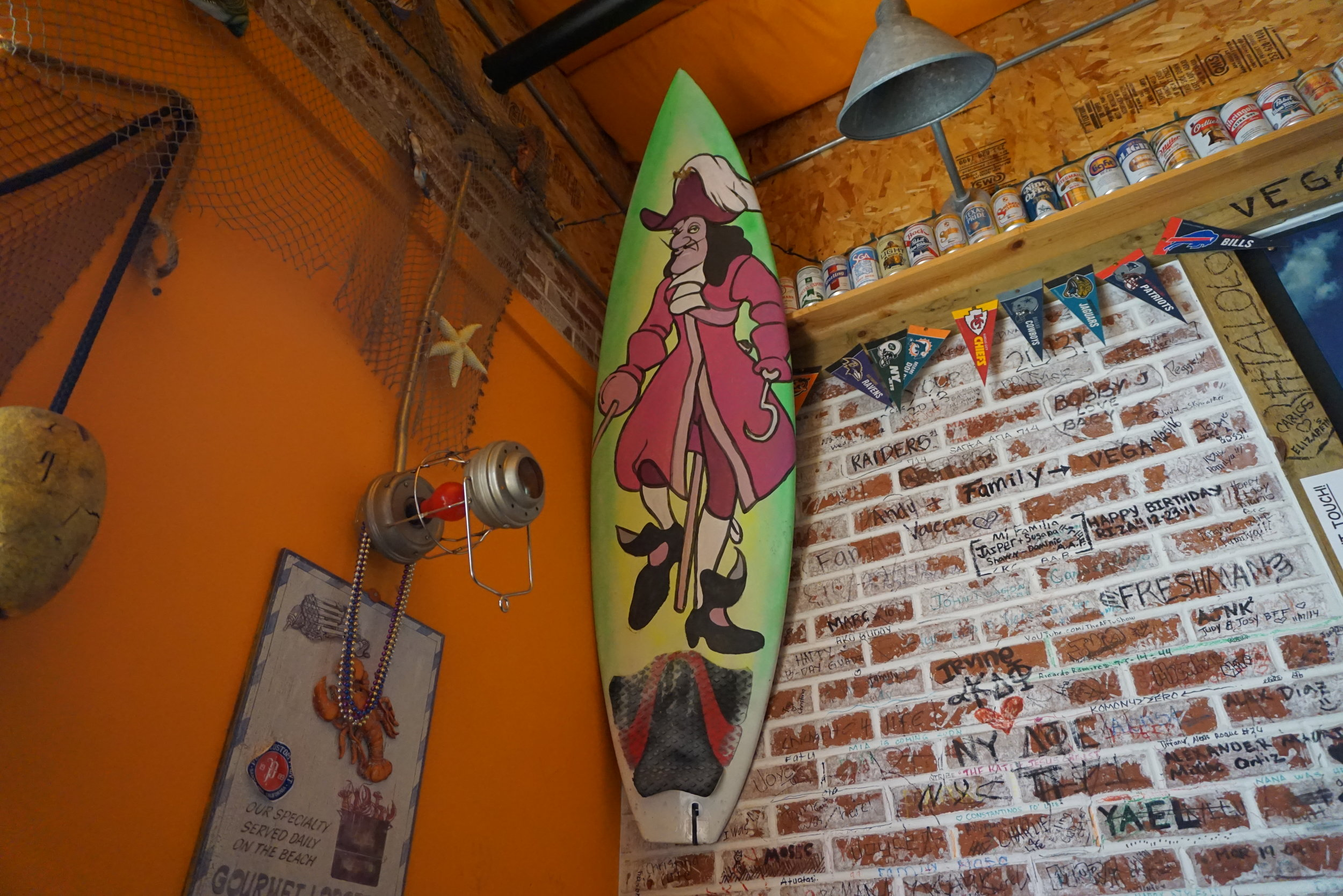 Photo inside of Kickin' Crab Captain Surf Board