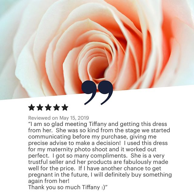 "At @tiffmariematernity we recognize that maternity wear is not a ""one size fits all."" You deserve to feel confident [+ stylish!] during the transition into motherhood, and we're here to help support that goal.  Thanks to this #momtobe for recognizing our brand. ⭐️ ⭐️ ⭐️ ⭐️ ⭐️ #customerfeedback #maternitybrand #maternitywear"