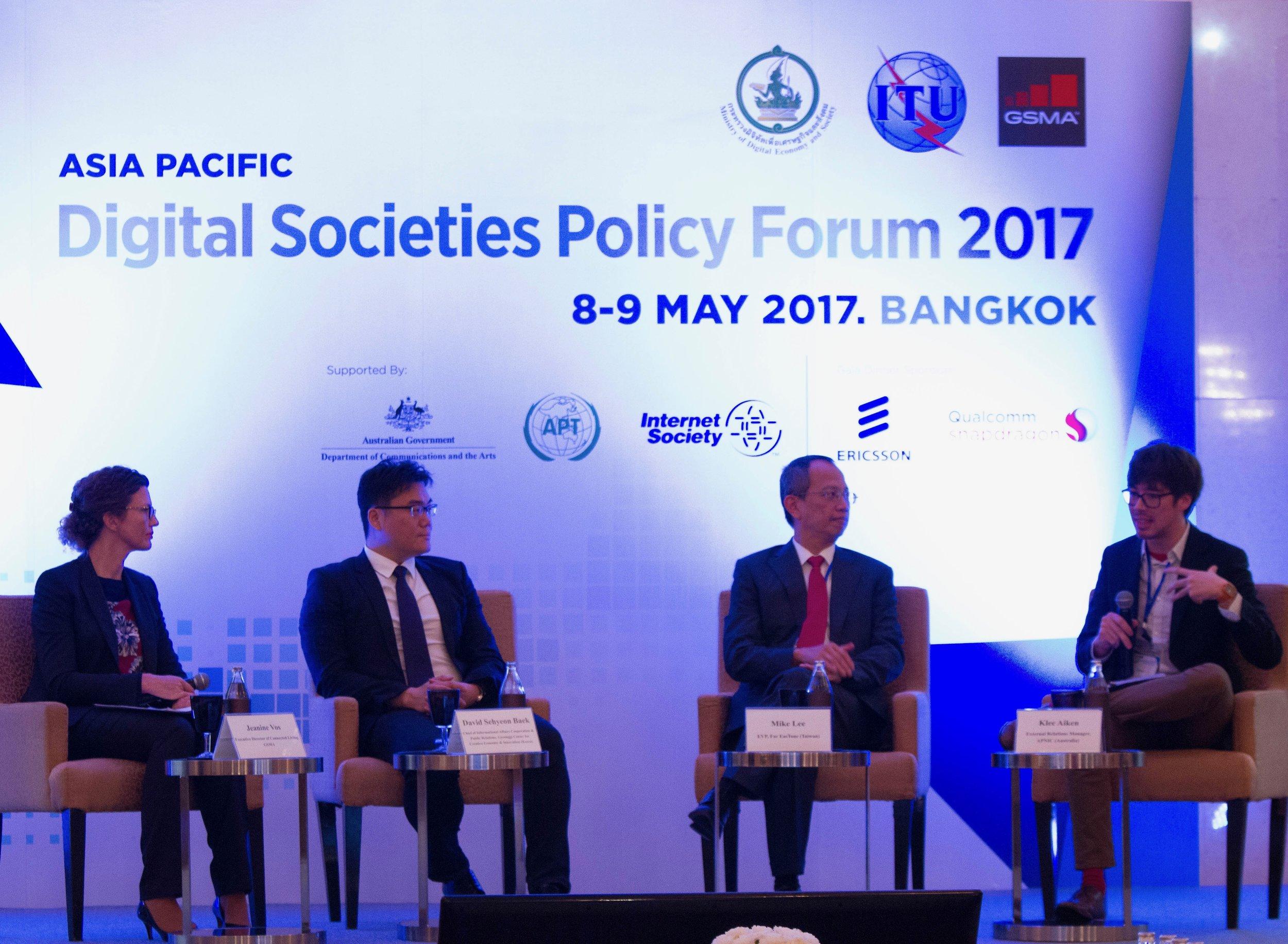 Smart City Panel at APAC Digital Societies Forum - Bangkok, TH (2017)