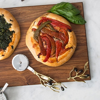 Olive Branch Serving Board & Pizza Cutter - MICHAEL ARAM