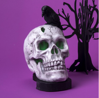 Noise Activated Skull & Crow - TWO'S COMPANY