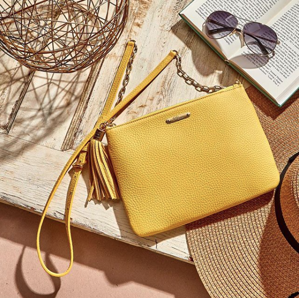 All in One Bag in Yellow Napa Leather - GIGI NEW YORK