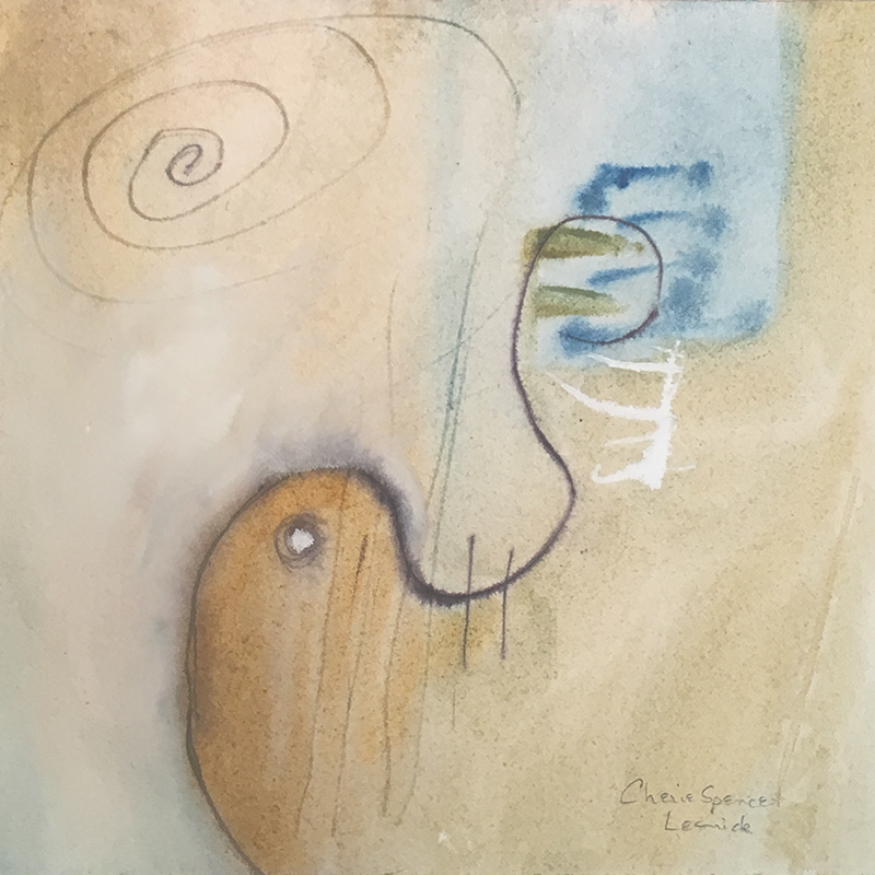 """Cherie Spencer Lesnick, """"Mark Making & the Elusive Spirit"""", Watercolor and Mixed Media"""