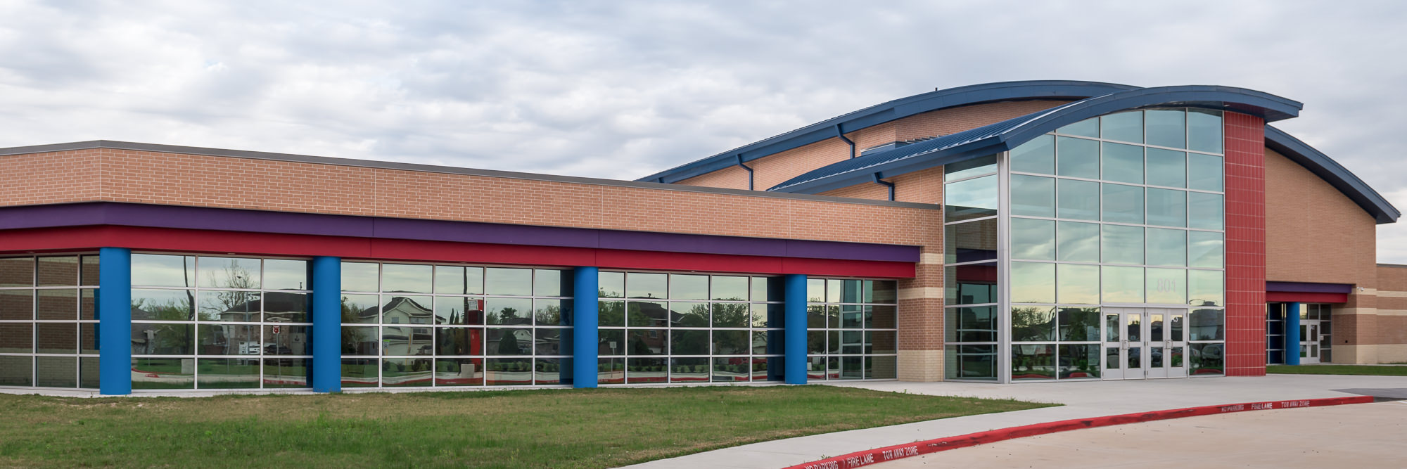 city glass glazing and installation houston texas - school curtain wall