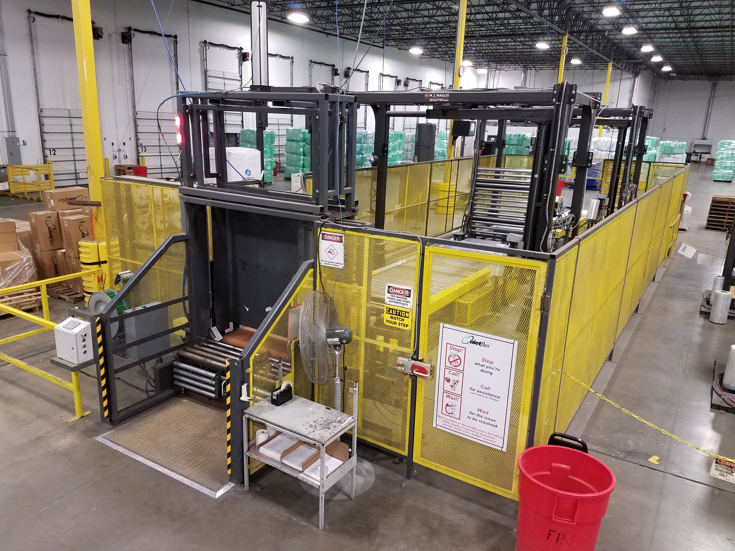 Loading Bay and machine overview.