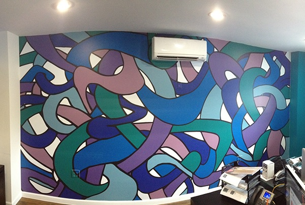 """Mural printed on Vinyl with matte lamination.  193"""" x 100"""""""