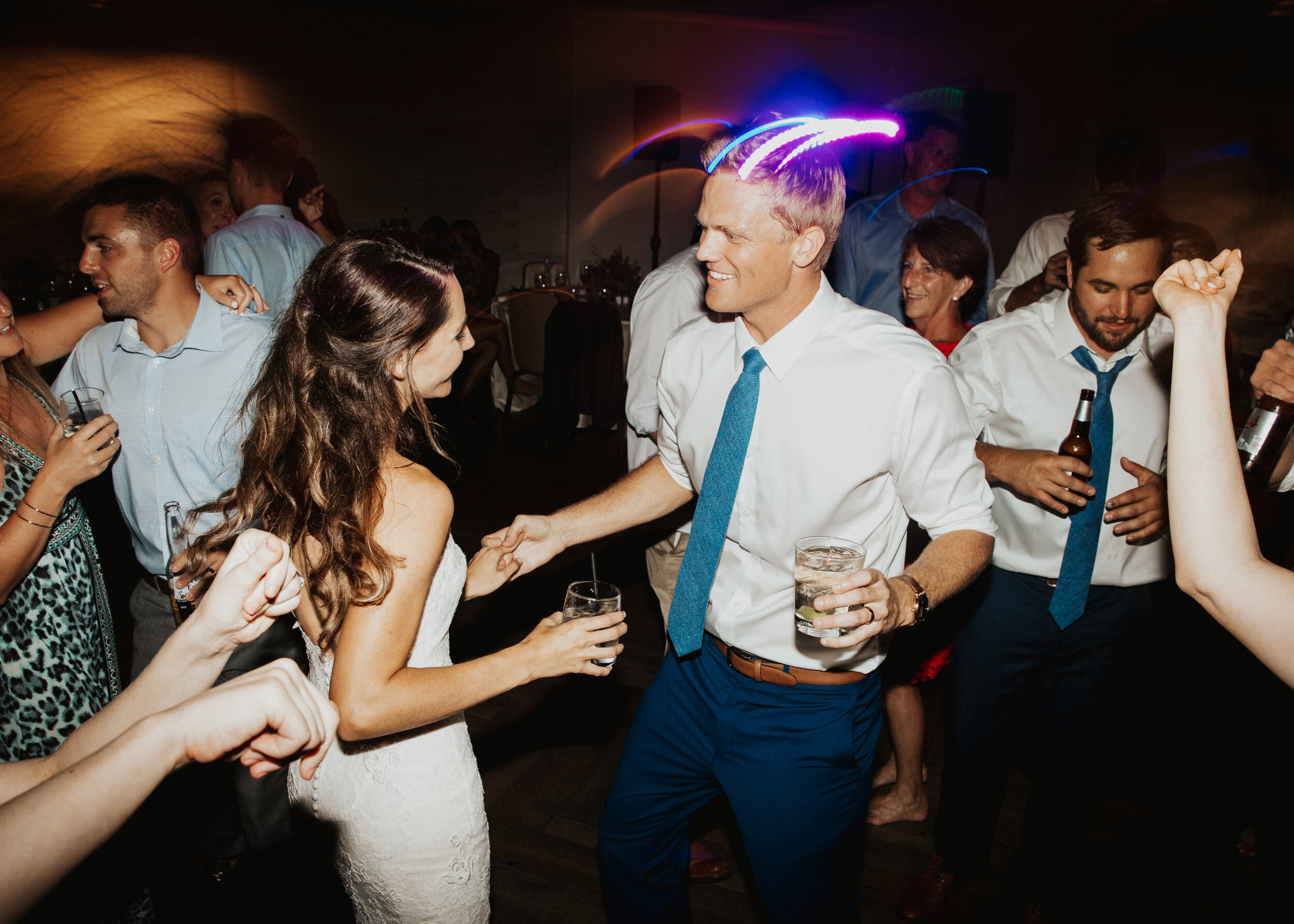 """- """"Joe was awesome at our wedding! He played acoustic guitar during the ceremony and cocktail hour, and DJ'ed great music for the dancing afterwards. It was absolutely perfect. He was easy to communicate with and made the whole process stress-free. We highly recommend him""""- Venice ★★★★★"""