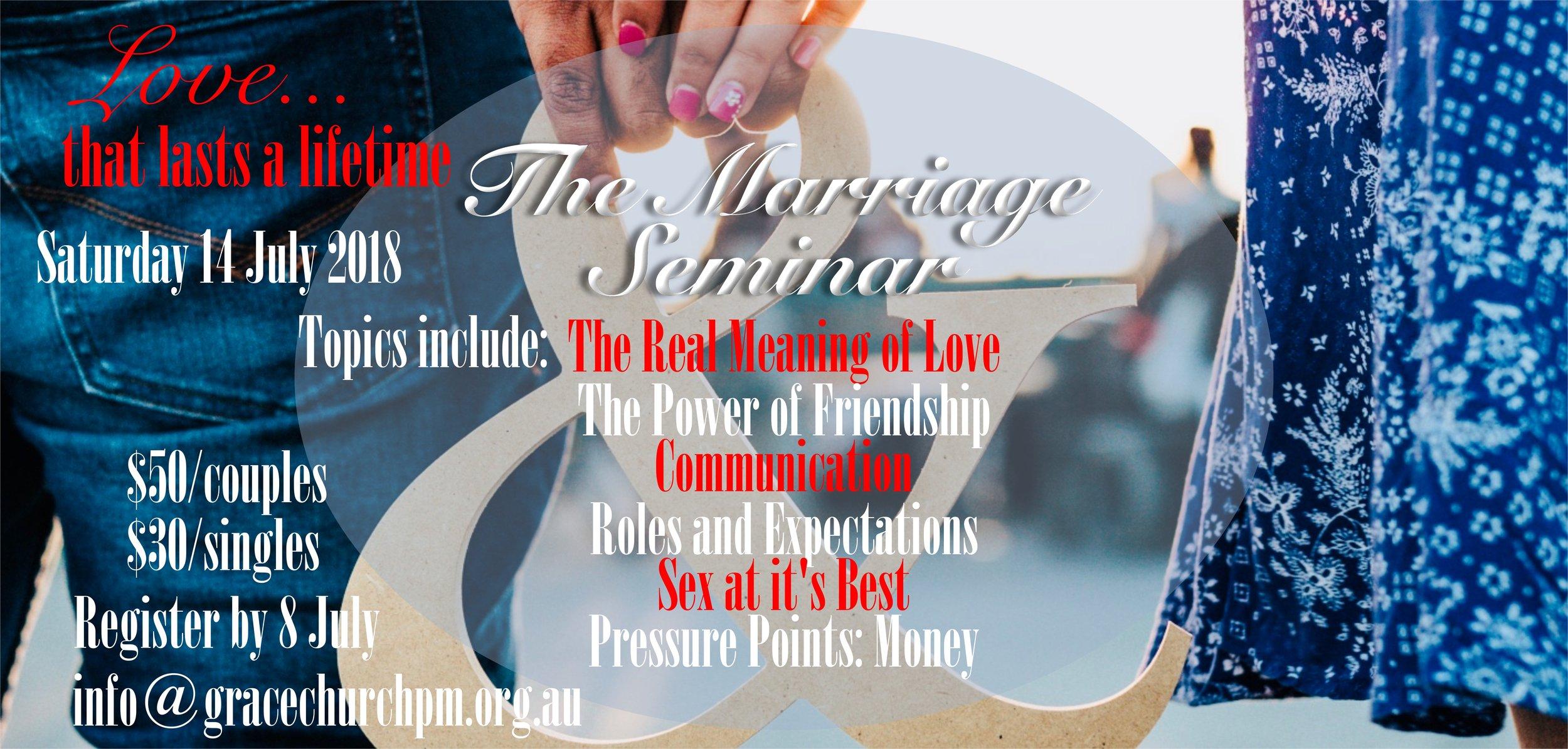 Marriage Seminar at Grace Church Port Macquarie
