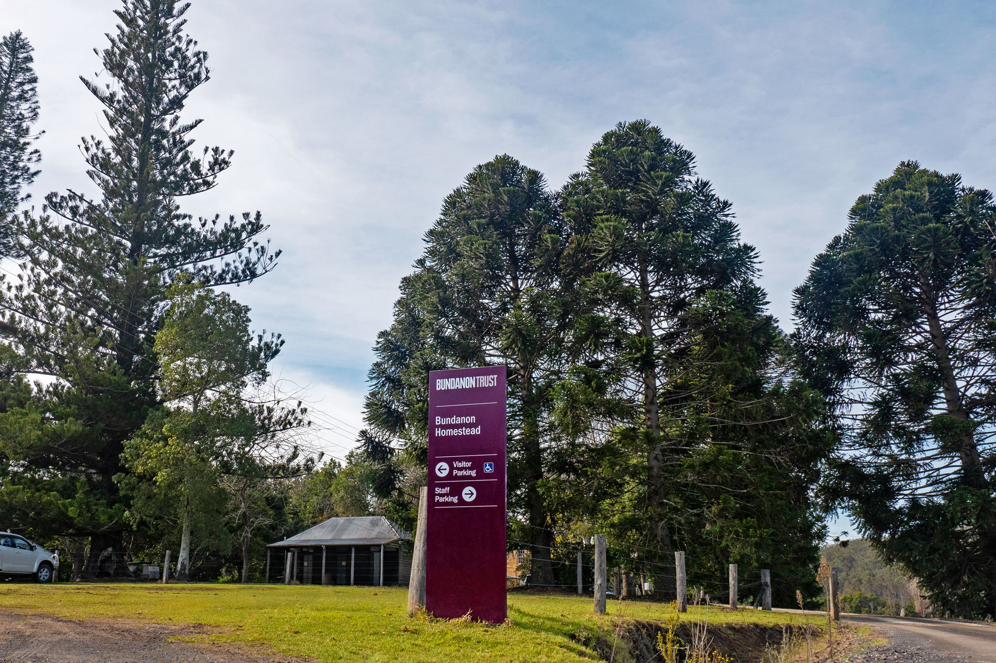 Bundanon Trust - Outdoor Wayfinding Sign