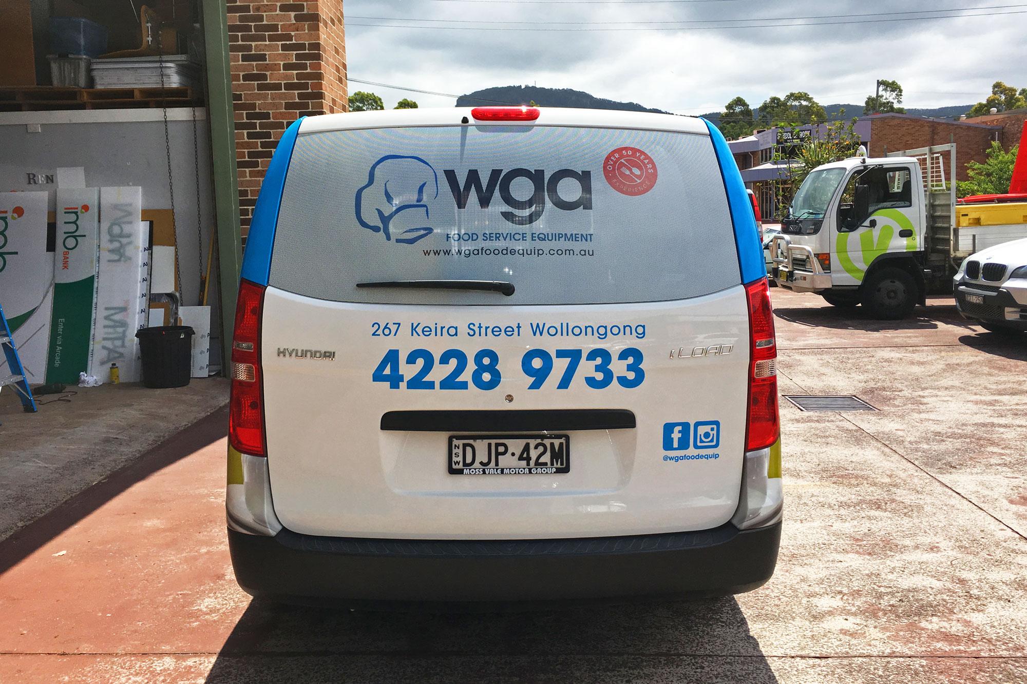 WGA Van Signage by Visual Energy