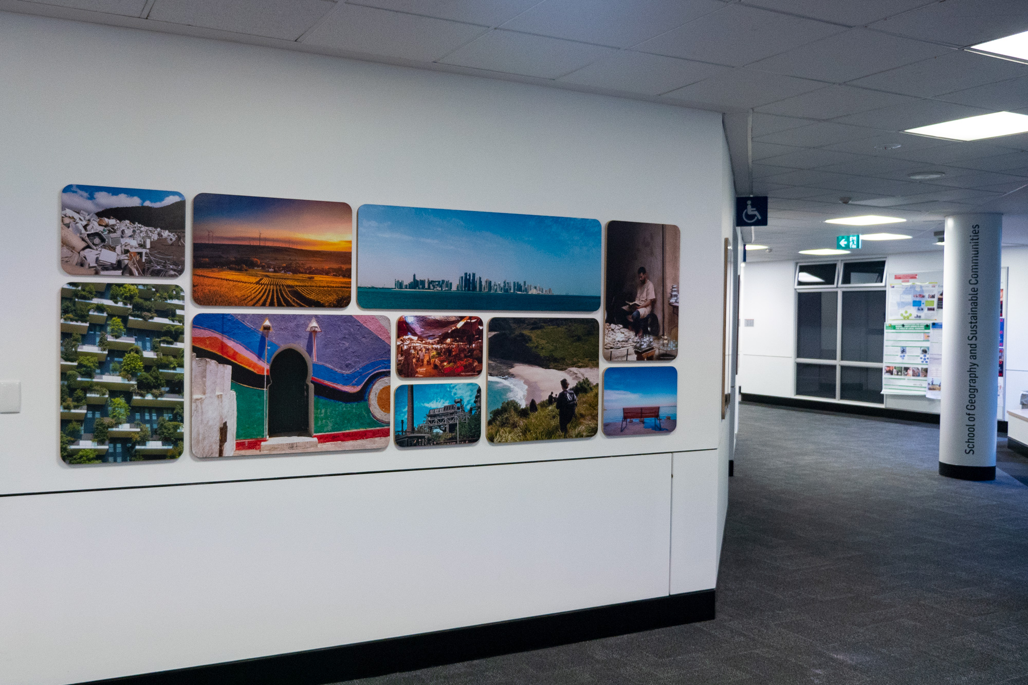 UOW Geography - Custom Feature Wall