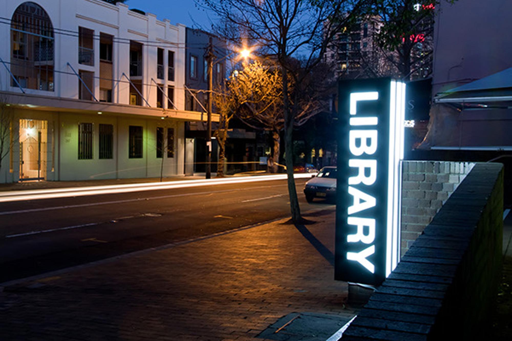 Stanton Library - Illuminated Sign