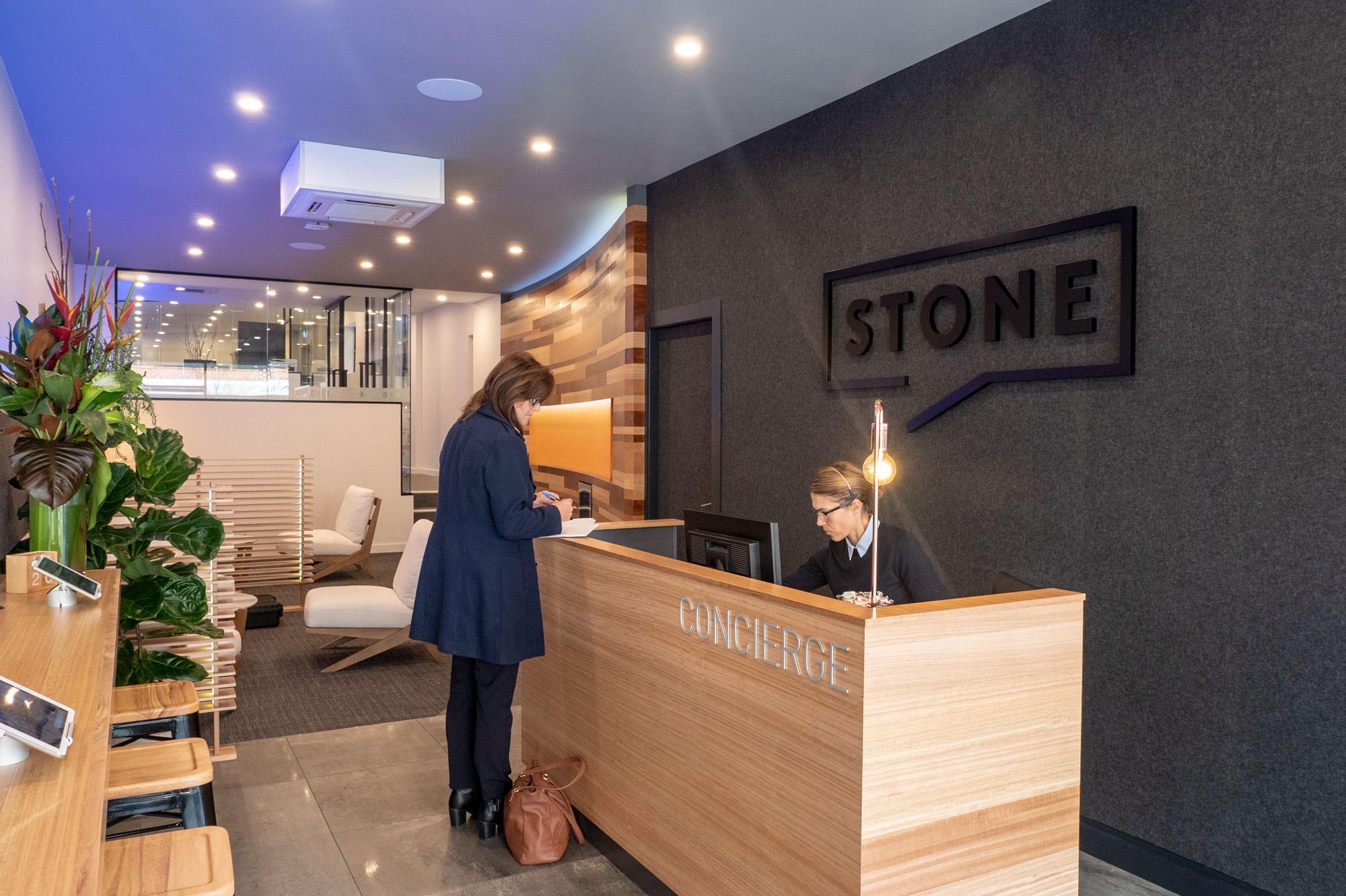 Stone Real Estate Illawarra Office. Signage by Visual Energy.