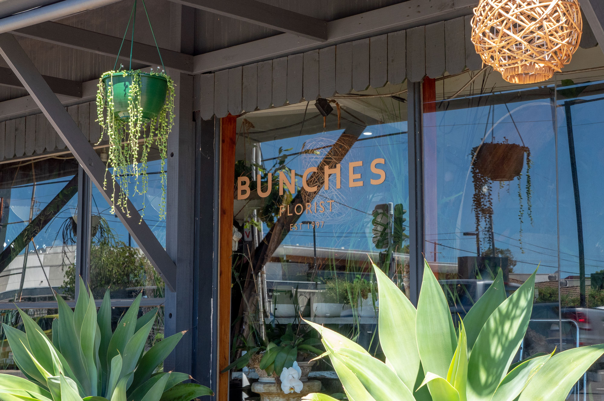 Bunches Florist - Window Vinyl Lettering