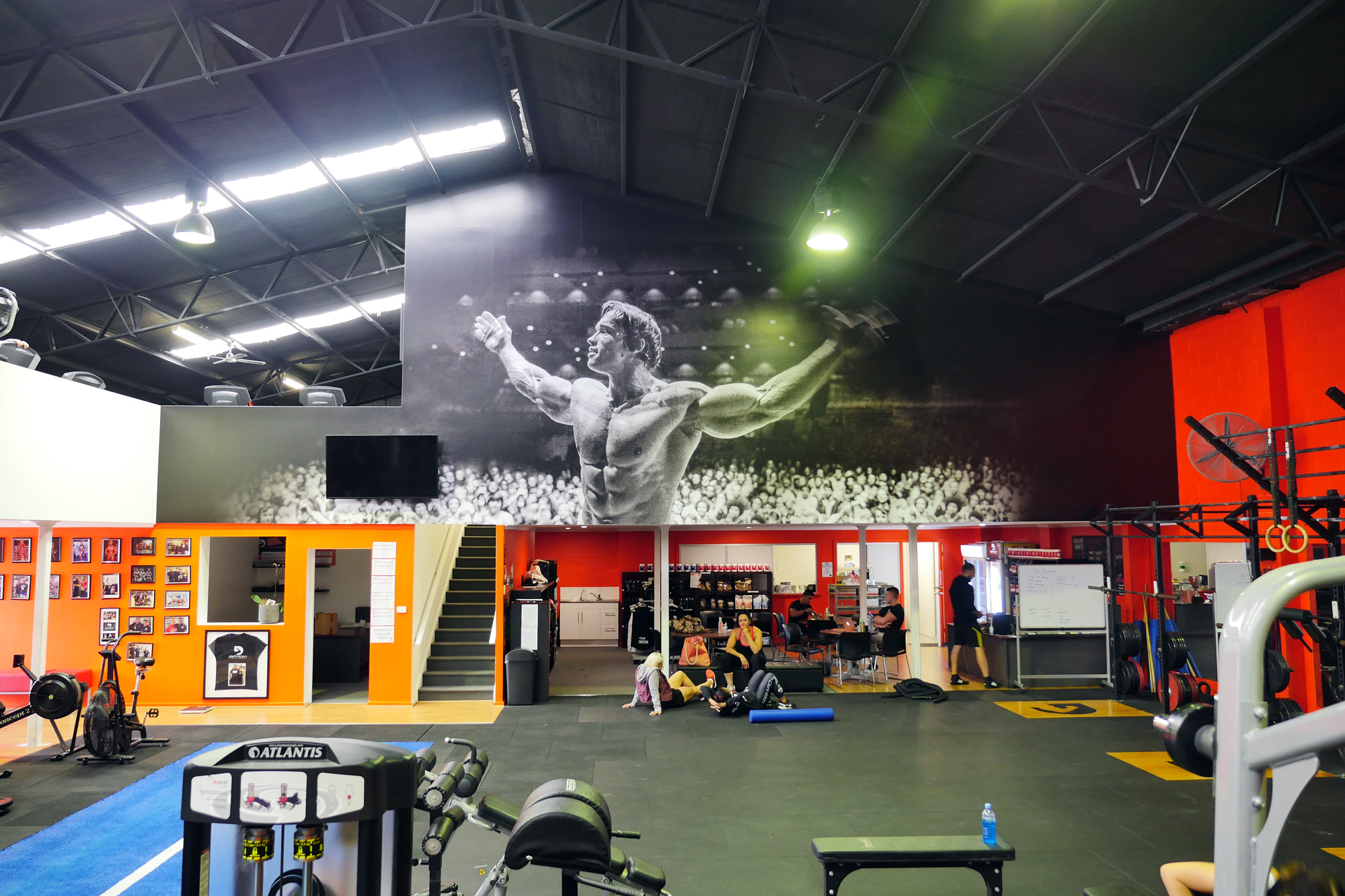 Definition Fitness, inspirational gym wallpaper graphics by Visual Energy.