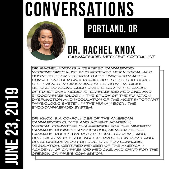 MEET THE PANEL - @racheldocknox  @thedocknox #CONVERSATIONSPDX