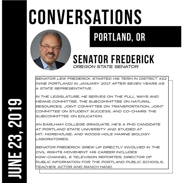 MEET THE PANELS: THE WAR ON CANNABIS - Senator Frederick District 22, Portland  #CONVERSATIONSPDX