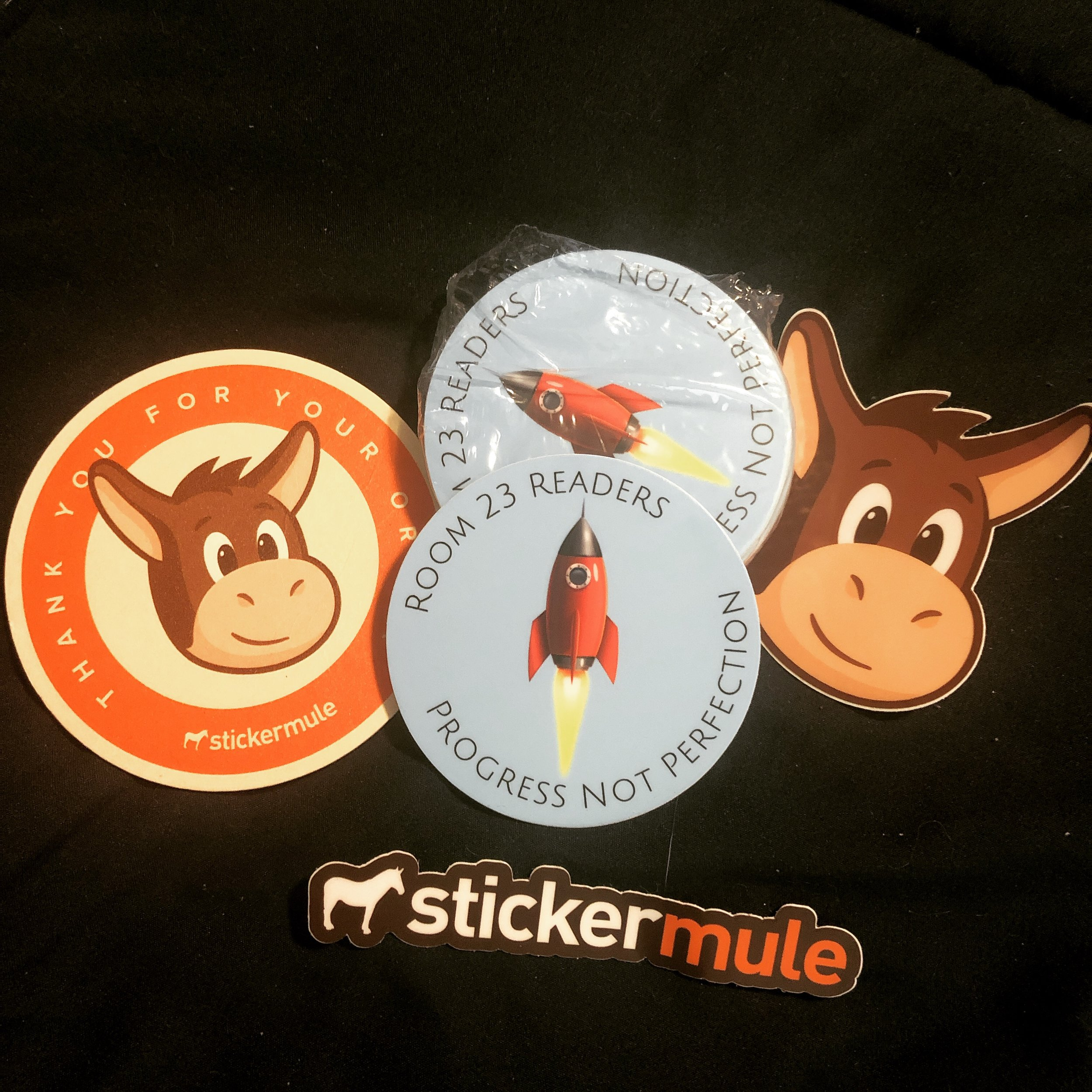 Shout out to the AMAZING @stickermule!  The quality of their stickers and their FABULOUS customer service are a winning combination!