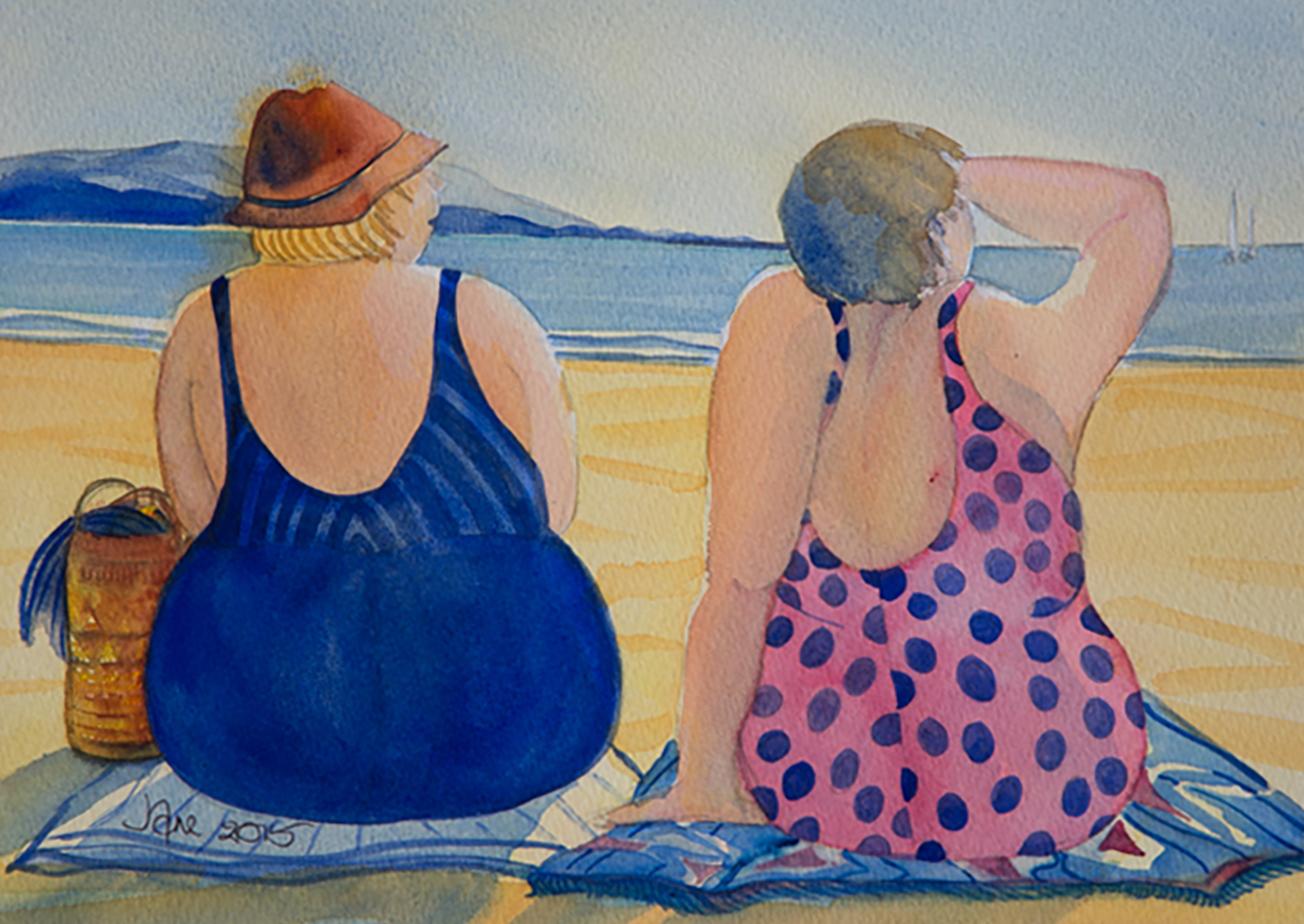 Watercolour paintings by Jane Smith, Goddard Rd, Tasman