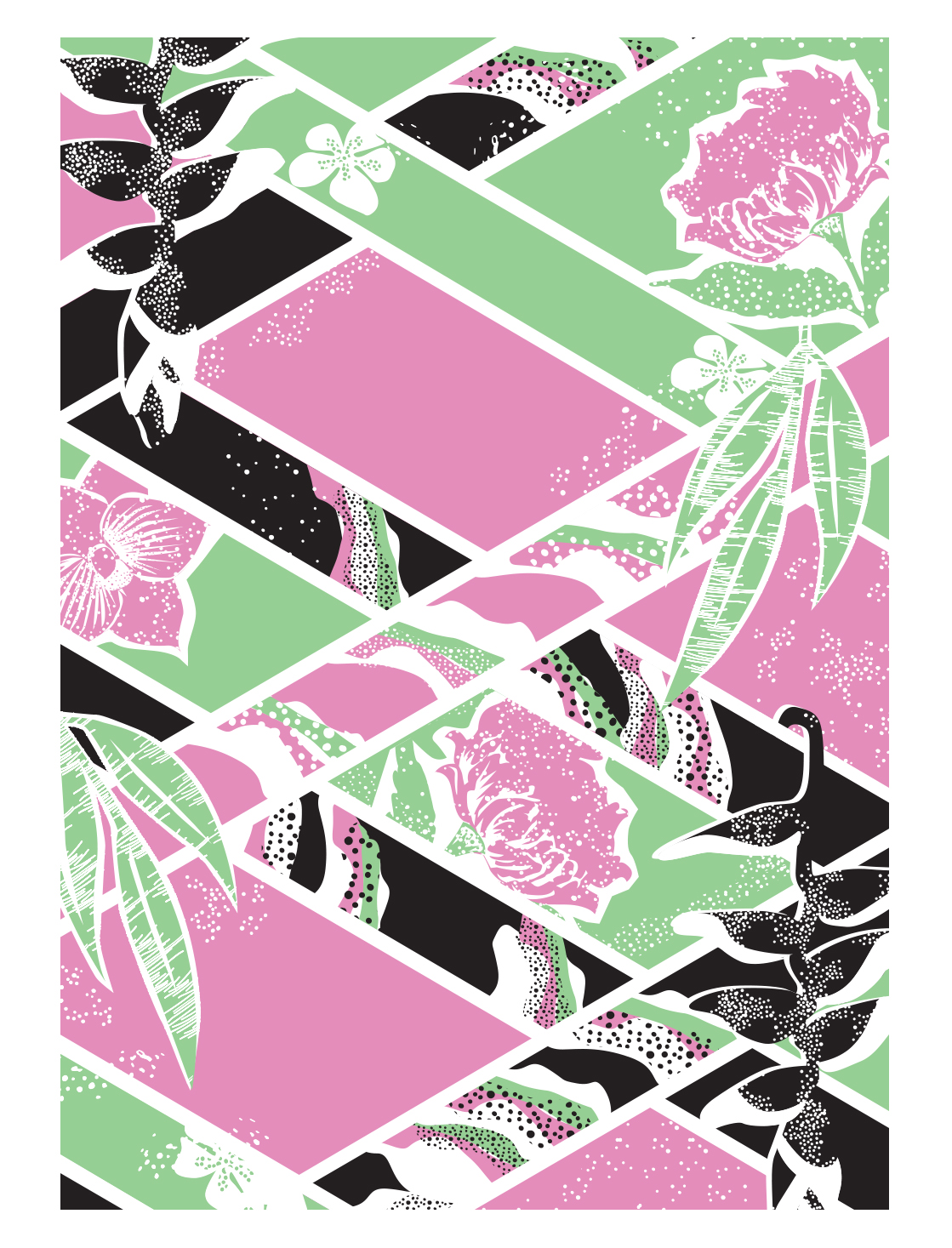 'Criss-cross' screen printed on tea towels and cards.