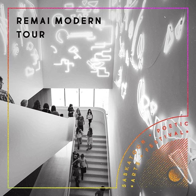 Friday, May 10th at 2 PM, take a poetic tour of the @remaimodern.  The festival ensemble of ten emerging spoken word artists from Saskatoon and across Canada will create site-specific poetry, inspired by works on display at the museum. View the art at Remai Modern through their unique perspectives and get a glimpse of differing spoken word practices as evident in the performance of fresh, new work created that day!  The tour is free with a museum membership or admission. • • • [ID: a photo of the stairs at Remai Modern, overlaid with festival design elements. End of ID.] • • #yxe #sk #Treaty6Territory #remaimodern #poetrytour #sitespecificpoetry #yxearts #yxepoetry #festivalensemble #treaty6poetry #skpoetry #poetry #allages #spaf2019 #witnessandwonder  Design by @sckuse
